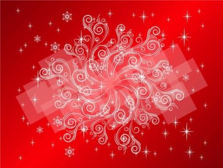 Swirling Snowflake design vectors