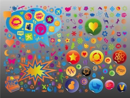 Symbols icon s vectors graphics