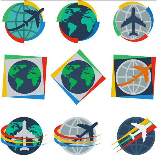Symbols with Globes vectors