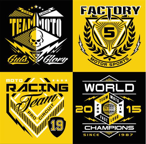 T shirt Design Elements vector