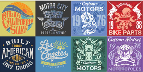 T shirt Design Set 2 vectors