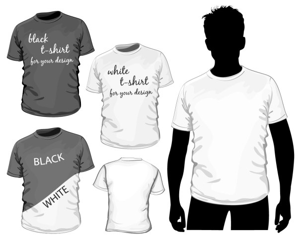 T shirt set vectors