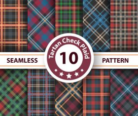Tartan check plaid seamless pattern vector 01