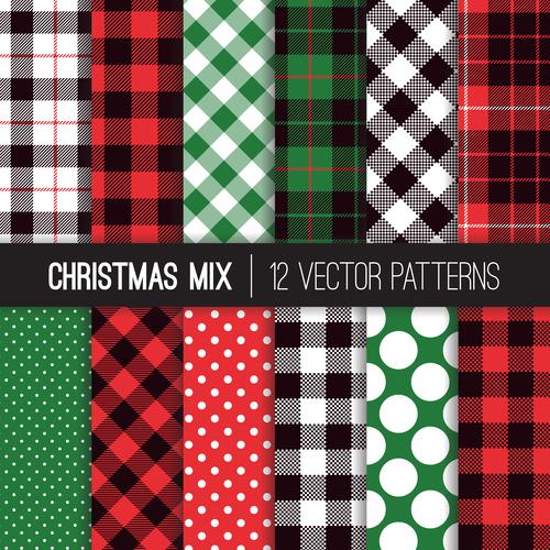 Tartan check plaid seamless pattern vector 05