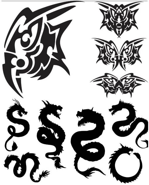 Tattoo Set 4 vector