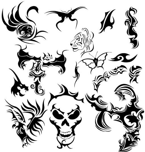 Tattoo Set 5 vector