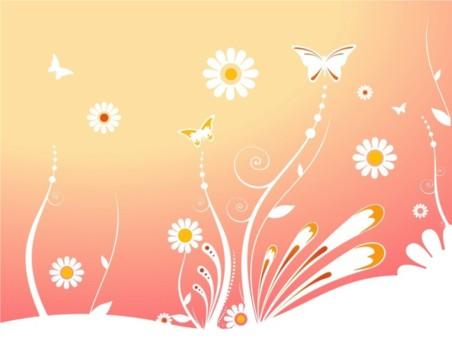 Tender Flowers background vector