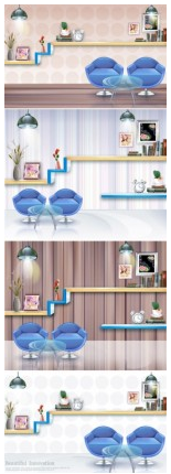 The room furnishings fashion Illustration vector