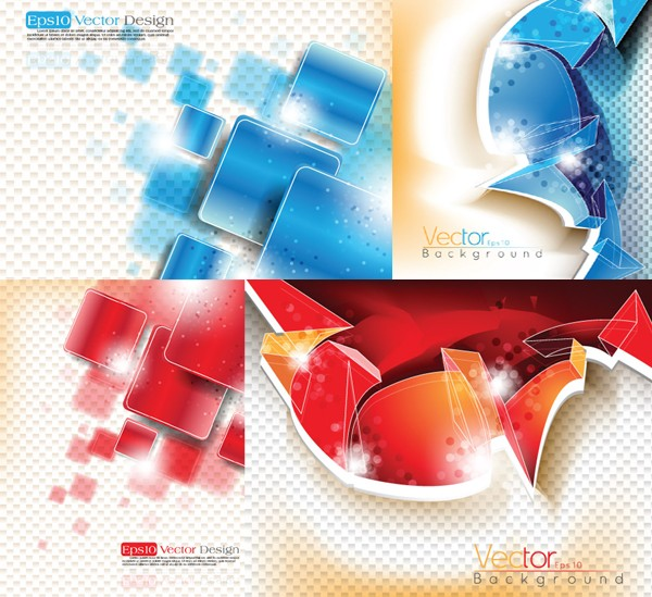 Three dimensional background graphics vector graphic