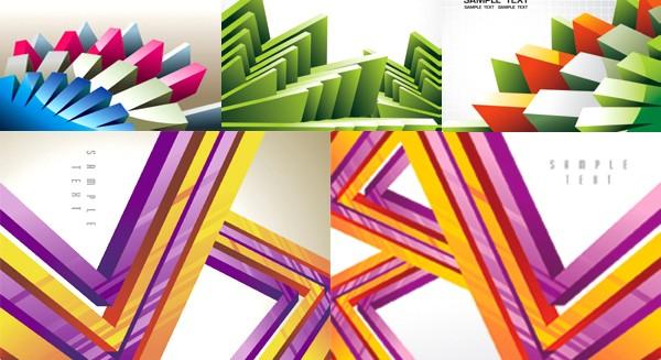 Three dimensional geometric background vector graphics