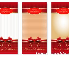 Three holiday vector christmas background material