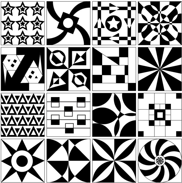 Tile Design Patterns vectors material