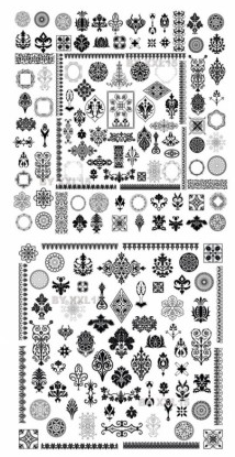 Totem fine pattern Illustration vector