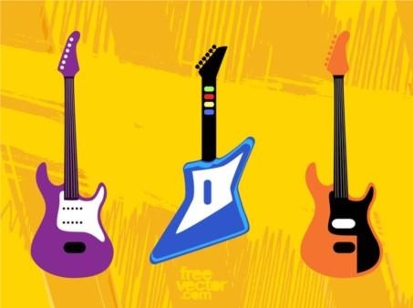 Toy Guitars vectors