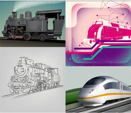 Train Backgrounds Mix vector