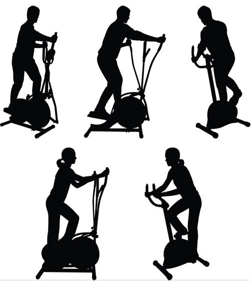 Training in gym vector graphics