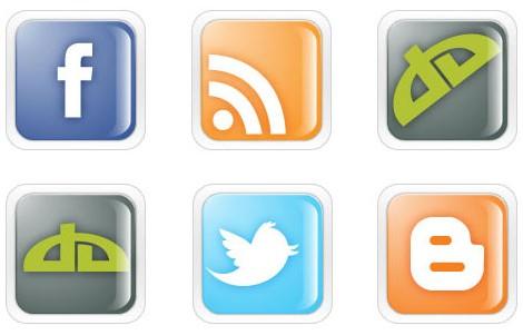 Transparent Social MediIcons vectors