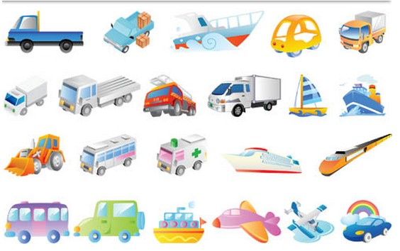 Transport Icons free vector set