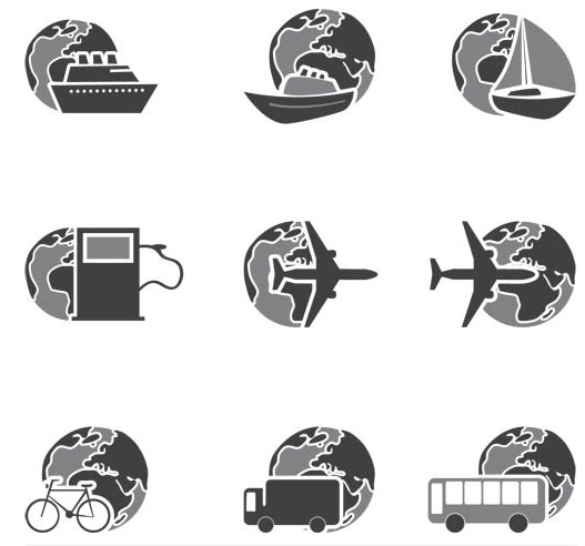 Transportation Icons art vectors graphics