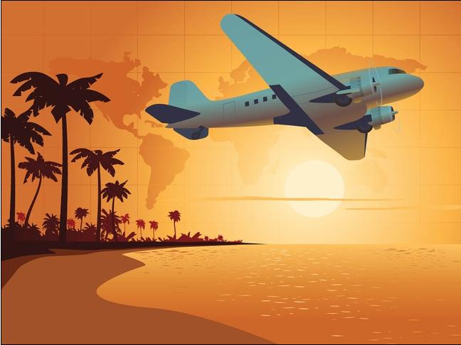 Travel Background graphic vector set