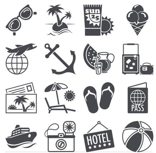 Travel Icons 2 vectors