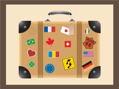 Travel Suitcase vectors material