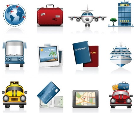 Travel travel icon vector graphic