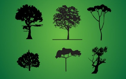 Tree Silhouette Pack vector