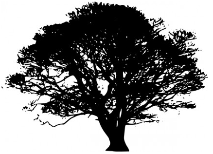 Tree Silhouettes clip art vectors material
