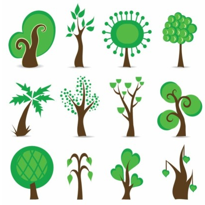 Tree Symbols Graphic vector