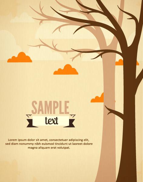 Tree background vectors graphic