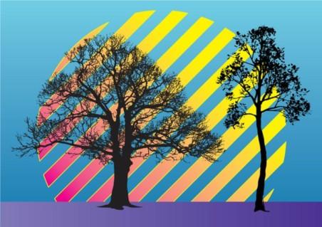 Trees Vector Illustration material