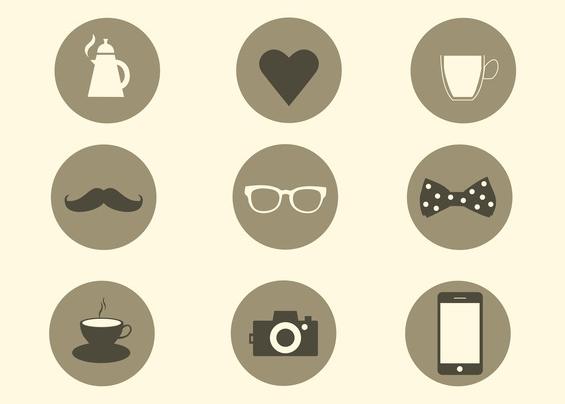 Trendy Icons design vectors