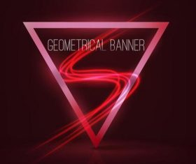 Triangle with dark red background vector 04