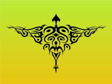 Tribal Bird Tattoo Graphics vector