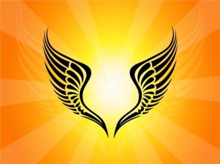 Tribal Wings Tattoo design vectors