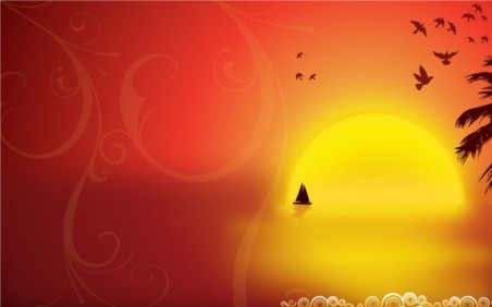 Tropical Night Graphics vector