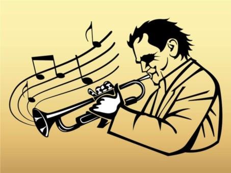 Trumpet Player Vector set