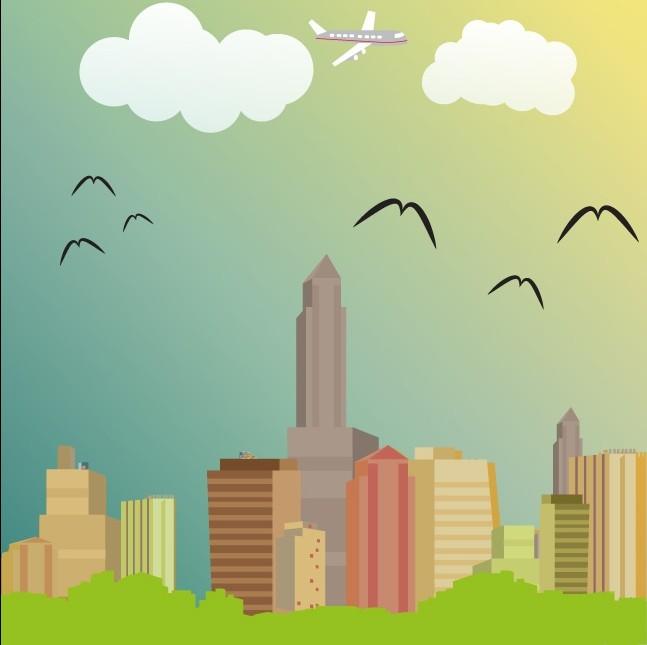 Urban Skyline vectors material
