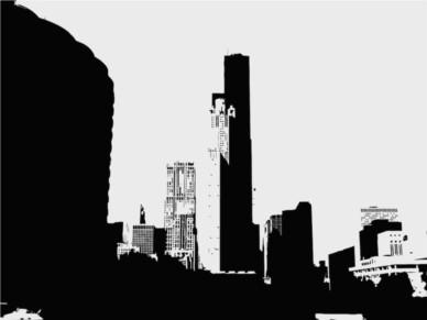 Urban Illustration shiny vector