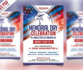 Usa Memorial Day Event Flyer Poste PSD Template