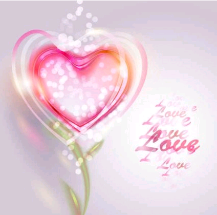 Valentine Love Background vector