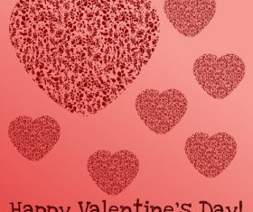 Valentine background with hand drawn floral heart vector