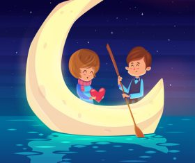 Valentine background with lovers design vector 04