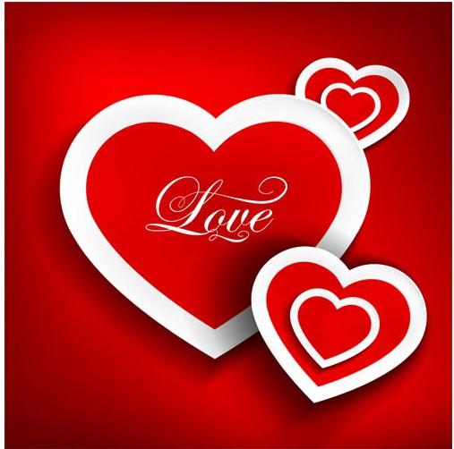 Valentines Backgrounds Set 3 vectors graphics