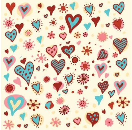 Valentines Day Hearts Pattern vector material