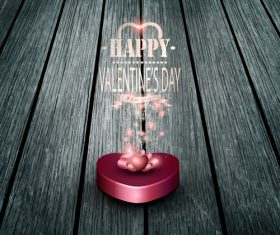 Valentines day gift boxs with wood textured background