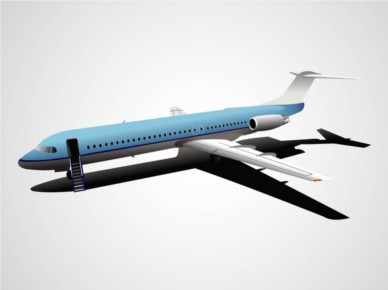 Airplane creative vector