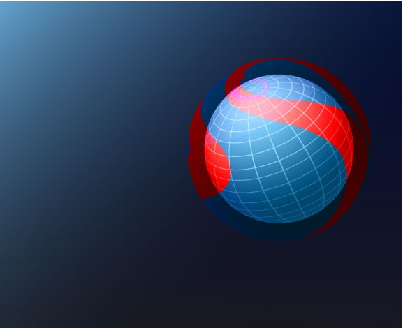 Vector Background with Blue Sphere graphics