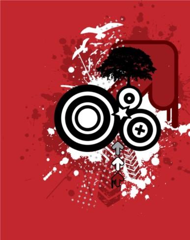 Grunge Graphics design vector